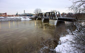High Water in Brantford, Ontario, Canada — Stock Photo