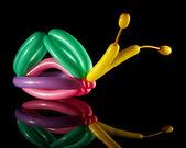 Balloon sculpture of a snail — Stock Photo