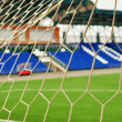 Stock Photo: Football goal, net, close-up