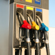 Gas pumps on petrol station — Stock Photo #3215543