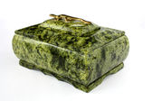 Green stone chest — Stock Photo