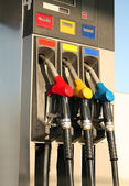 Gas pumps on petrol station — Stock Photo