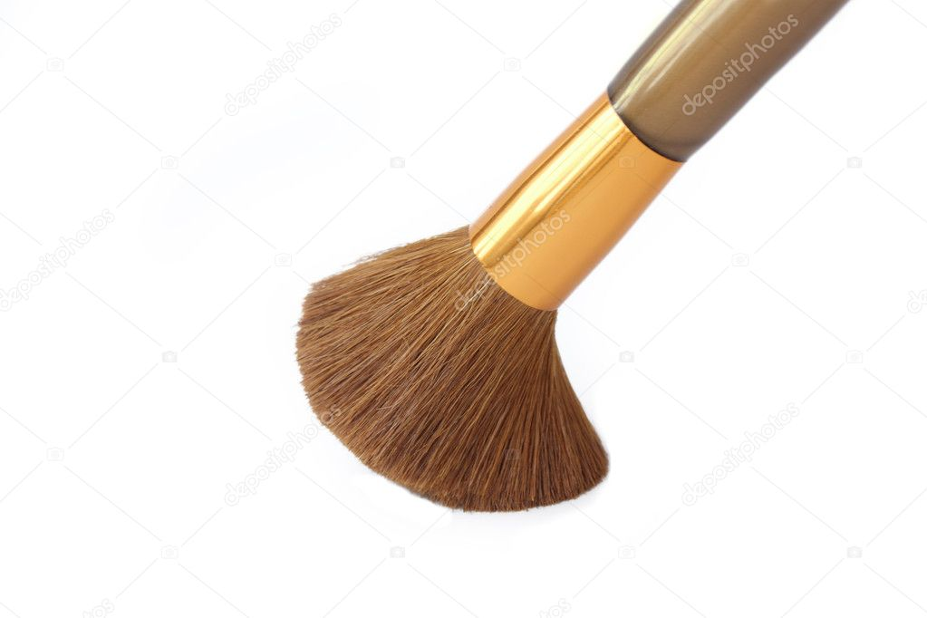 Isolated make up brush over white background — Stock Photo #3518650