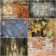 Set of grange rusty textures — Stock Photo
