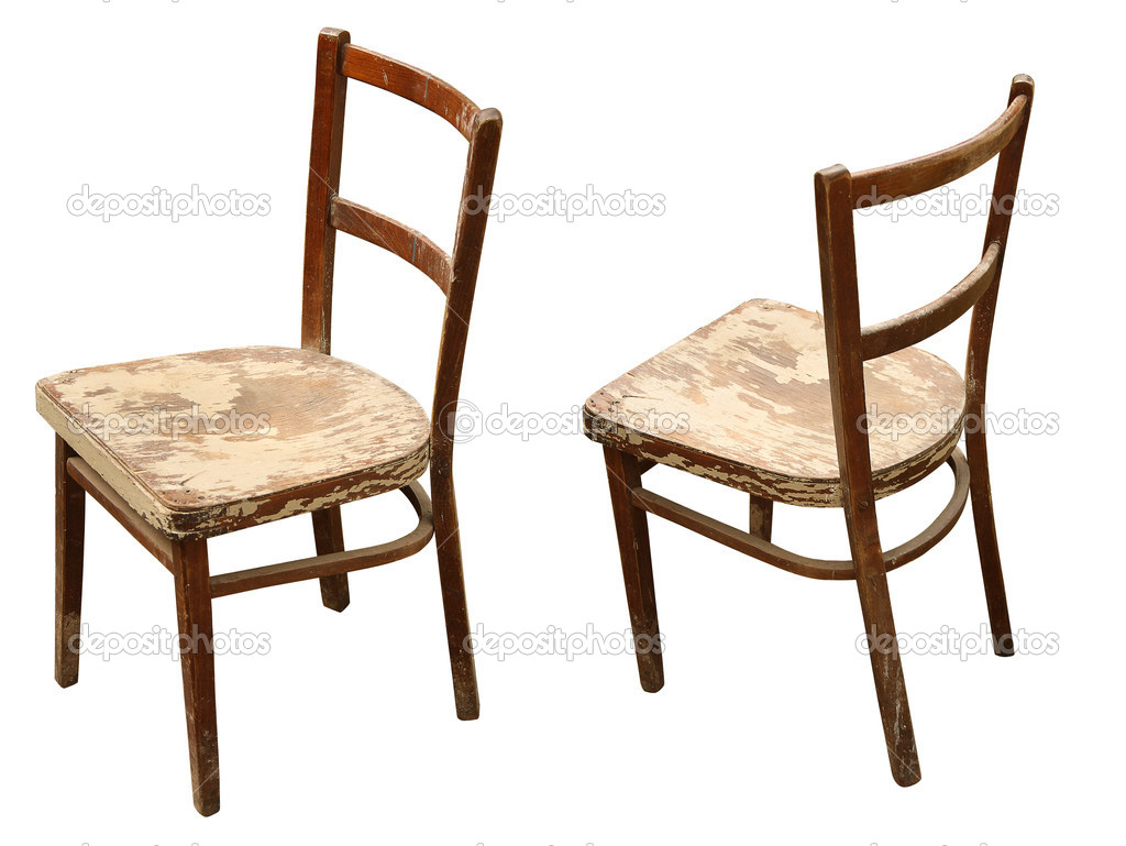 Old Wooden Chair ~ Old wooden chair — stock photo