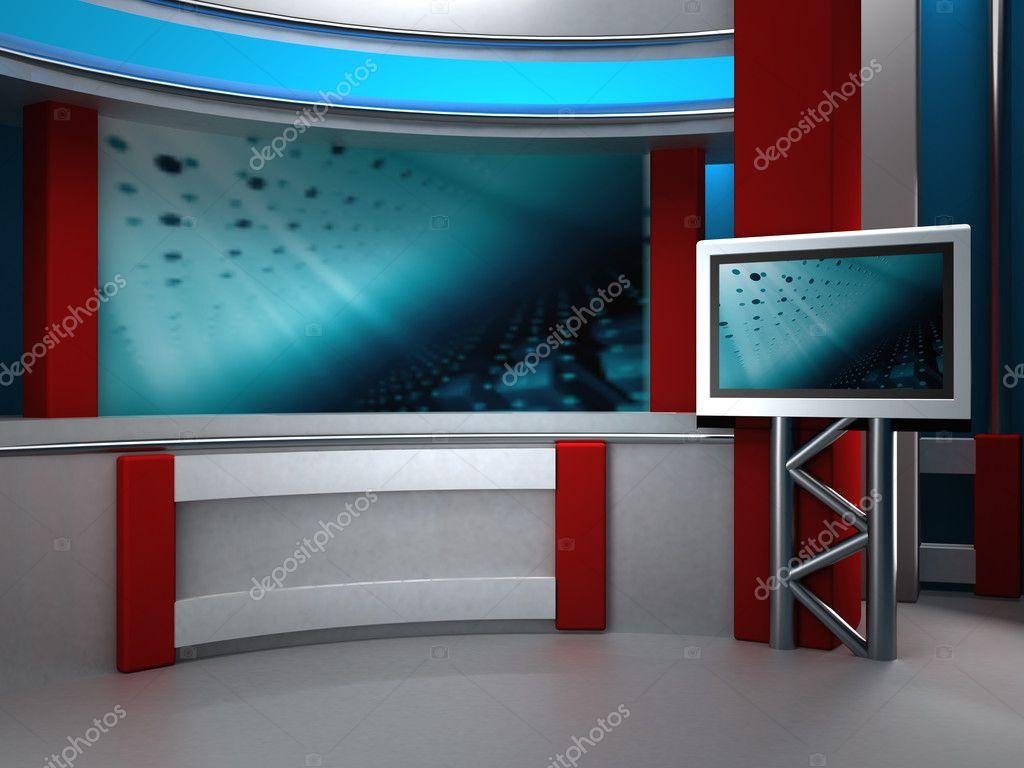 Studio tv3d studio for tvtv newschromacamera