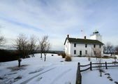 Horton Point Lighthouse in Snow — Stock Photo