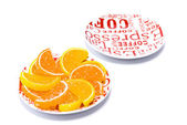 Jujube lies on white saucer — Stock Photo