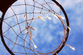 Basketball ring in the sky — Stock Photo