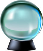 Fortune predicting ball — Stock Vector