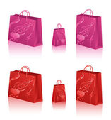 Love Shopping Bags — Stock Vector