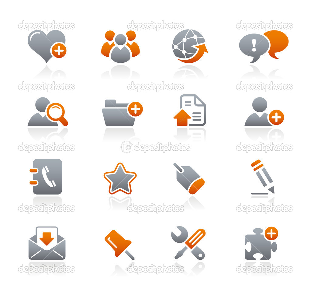Vector icon set for your website or presentation. — Stockvektor #3017887