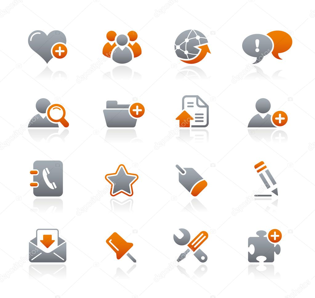 Vector icon set for your website or presentation. — Grafika wektorowa #3017887