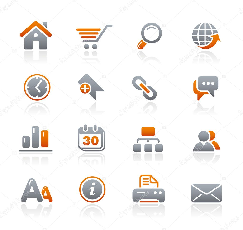 Vector icon set for your website or presentation. — Imagens vectoriais em stock #3017941