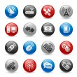 Wireless & Communications Icons — Stock Vector