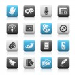 Blog & New Media // Matte Series — Stock Vector