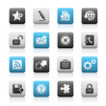 Web Site & Internet Plus — Stock Vector