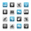 Royalty-Free Stock Vector Image: Wireless & Communications Icons