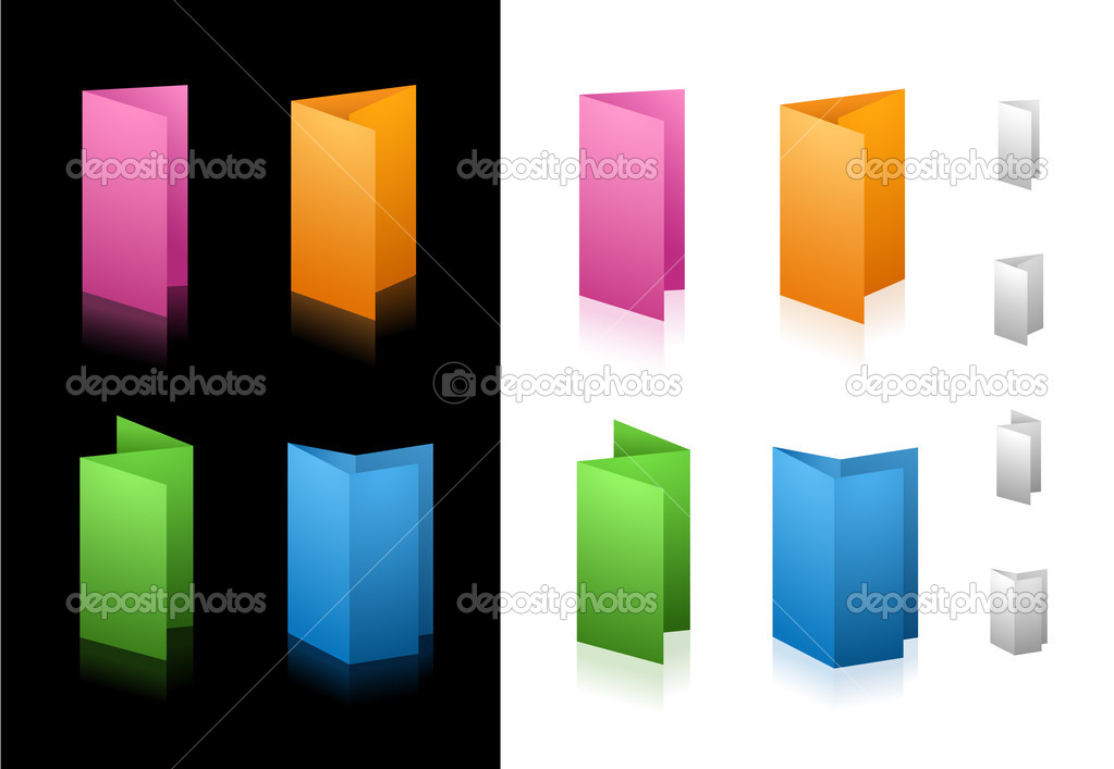 Standard folding options for your printing or web site projects. — Stock Vector #3025254