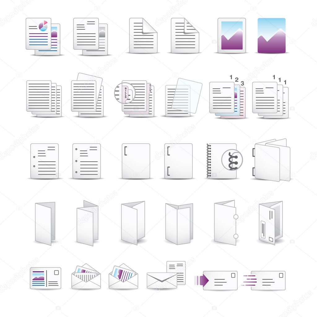 Vector icon set for your website or presentation. — Stock Vector #3025270