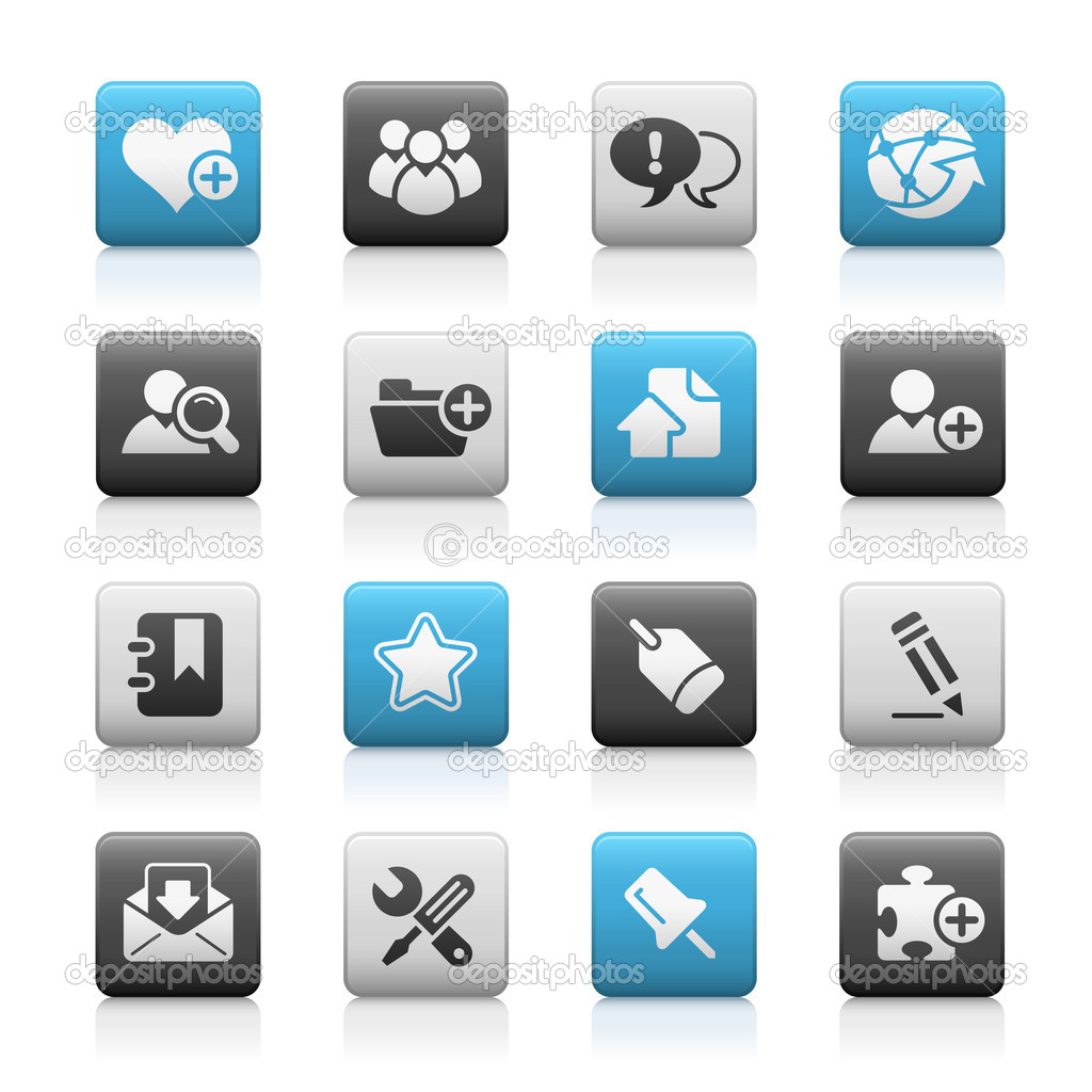 Vector icon set for your website or presentation.  Stock Vector #3025746