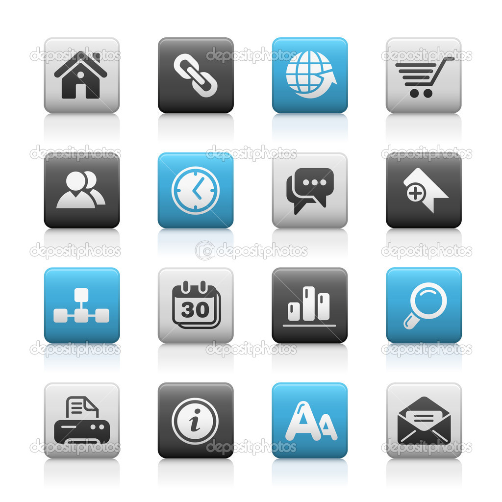 Vector icon set for your website or presentation. — Imagen vectorial #3025764
