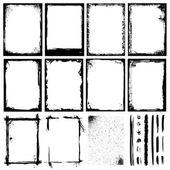 Marcos, texturas y trazos / 2 — Vector de stock