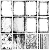 Ramki, tekstury i uderzeń / 1 — Wektor stockowy