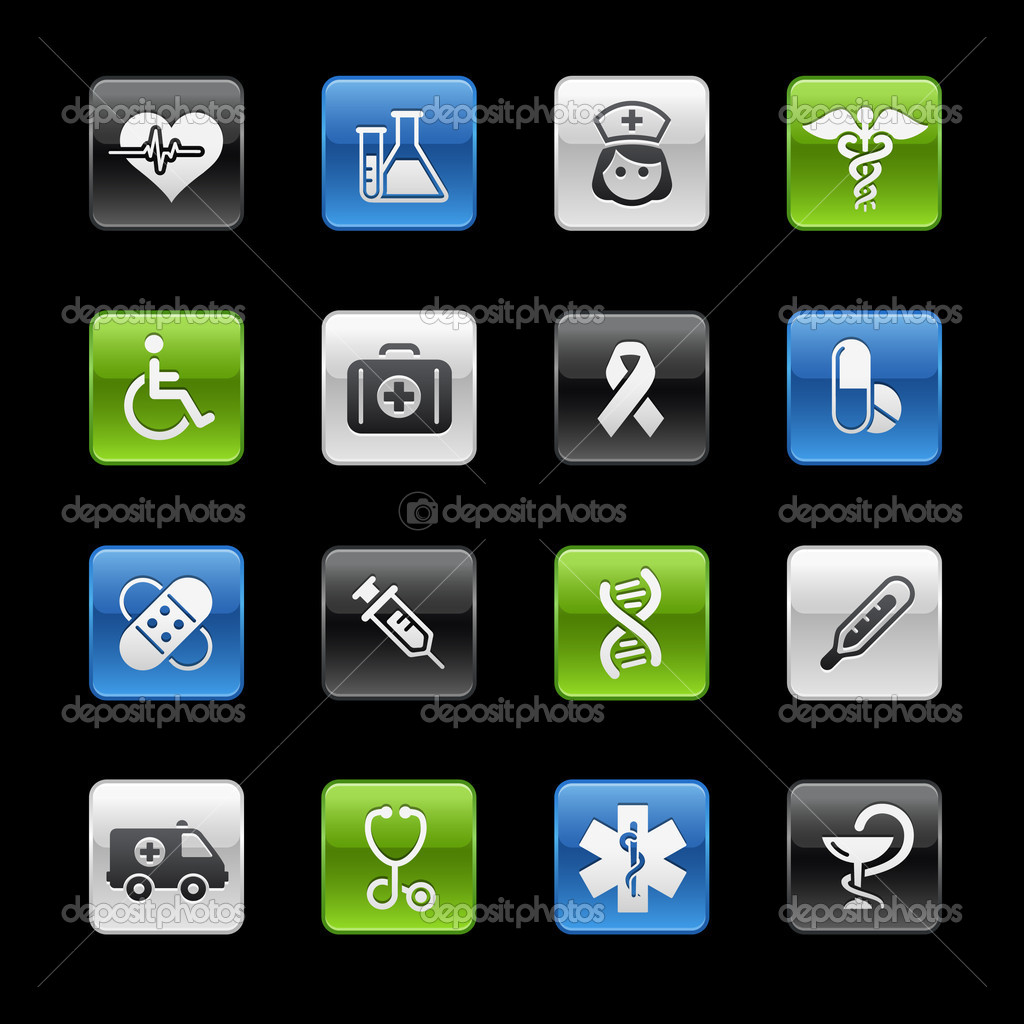 Vector icon set for your website or presentation. — Stock Vector #3031862
