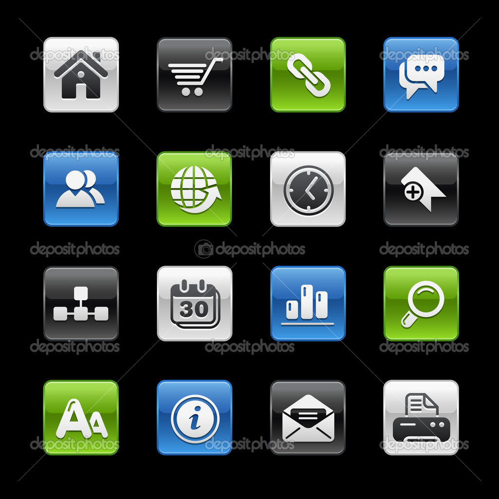 Vector icon set for your website or presentation.  Stock Vector #3031894