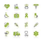 Medicina & heath care / línea natura — Vector de stock