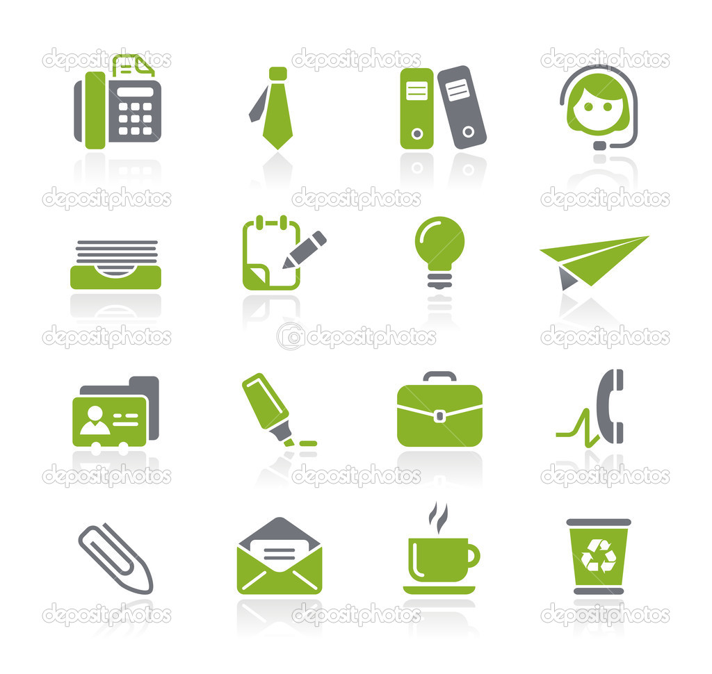 Vector icon set for your website or presentation. — Stock Vector #3157981