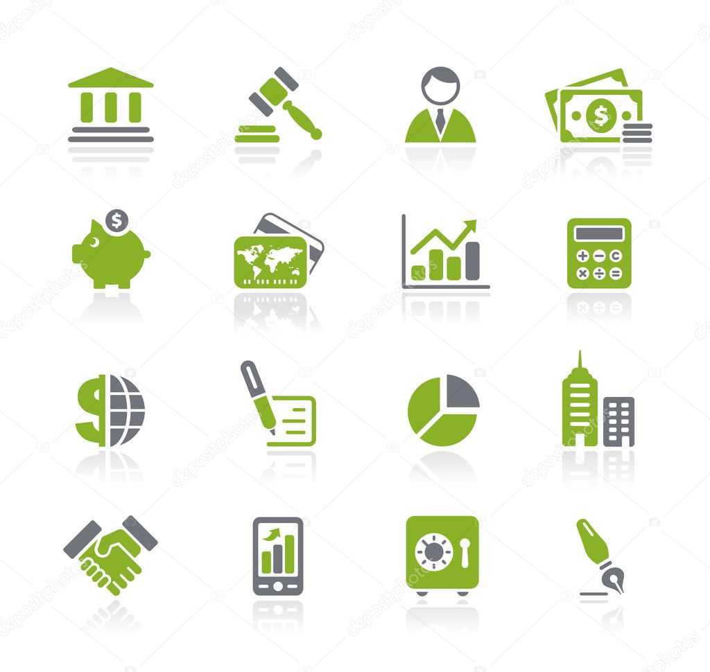 Vector icon set for your website or presentation. — Stock Vector #3157990