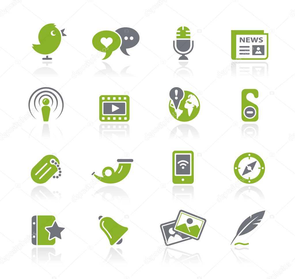 Vector icon set for your website or presentation. — Stock Vector #3161262