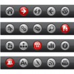 Web Navigation // Button Bar Series — Stock Vector