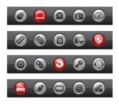 Computer & Devices / Button Bar Series — ストックベクタ