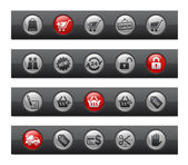 Shopping // Button Bar Series — Stock Vector