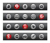 Social Media // Button Bar Series — Stock Vector