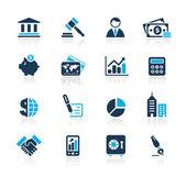 Business & Finance // Azure Series — Stock Vector