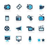 Multimedia // Azure Series — Stock Vector