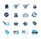 Shopping // Azure Series — Stock Vector