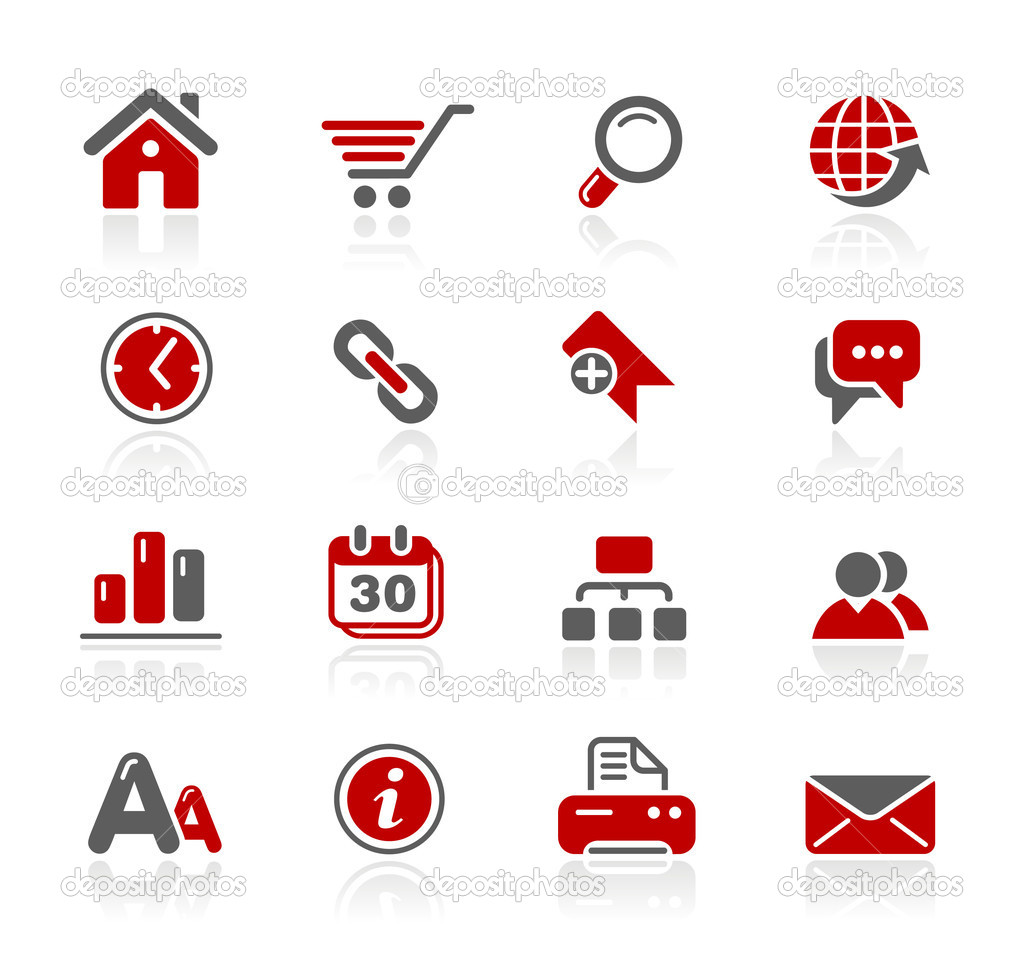 Professional icons for your website or presentation. -eps8 file format- — Imagens vectoriais em stock #3538042