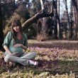 Royalty-Free Stock Photo: Pregnant woman in the spring park