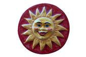 Seramik süsleme güneş gülümsüyor — Stok fotoğraf