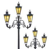 Decorative street lamps — Stock Photo