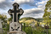 Christian Cemetery Romania — Stock Photo