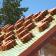 Red roof tiles — Stock Photo