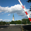 Parking in front of the Jasna Gora — Stock Photo