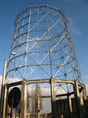 Old small cooling tower — Stock Photo