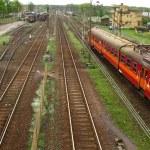Railway tracks and turnouts — Stock Photo